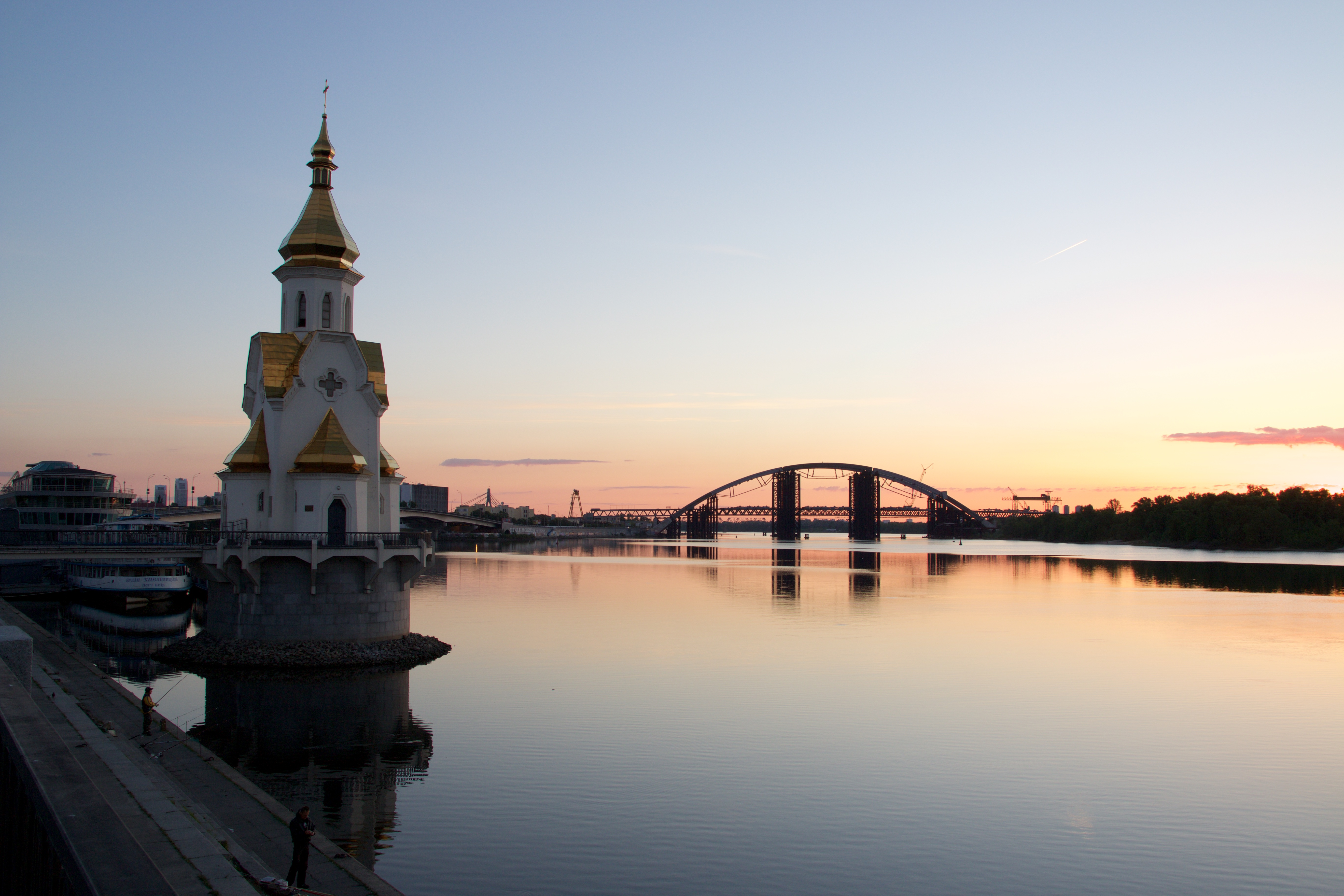 Dawn over the Dnipro
